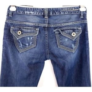 Guess Jeans Womens Size 26 Distressed Flap Pockets